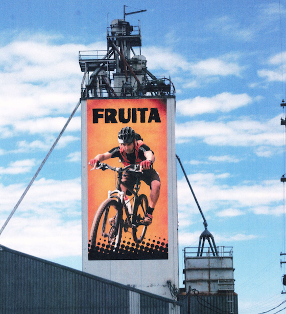 grain silo billboard
