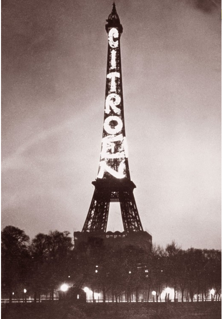 eiffel tower billboard
