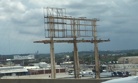 Abandoned Billboard Frame