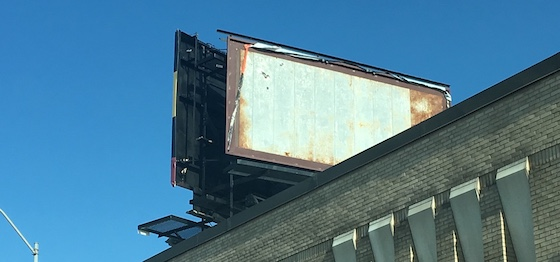 metal billboard
