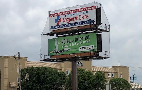 billboard with netting