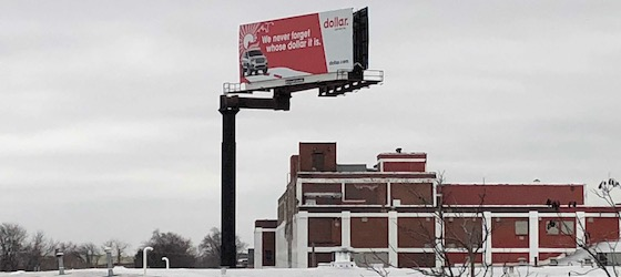 full flag offset billboard