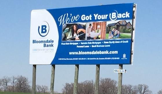 blue wooden billboard