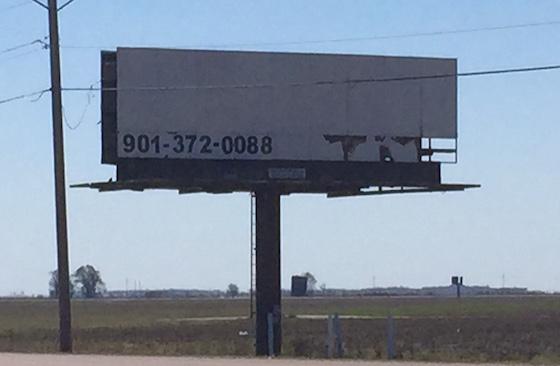 abandoned billboard