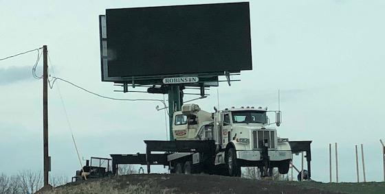 LED billboard under construction
