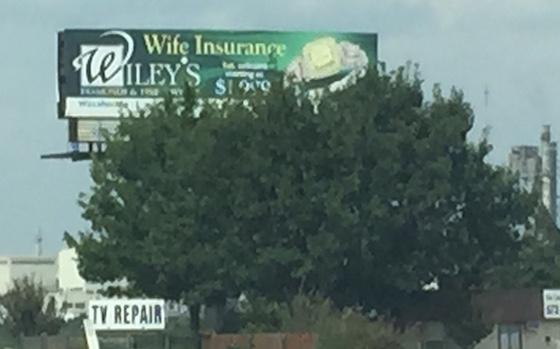 blocked billboard sign