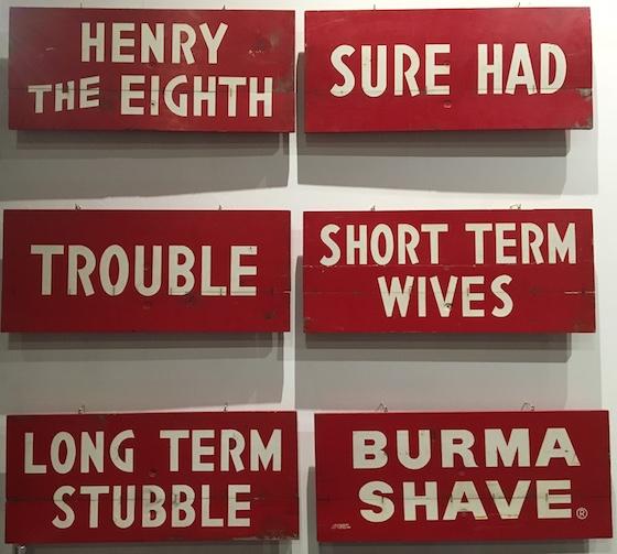 Burma Shave Billboard