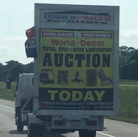 small mobile billboard truck