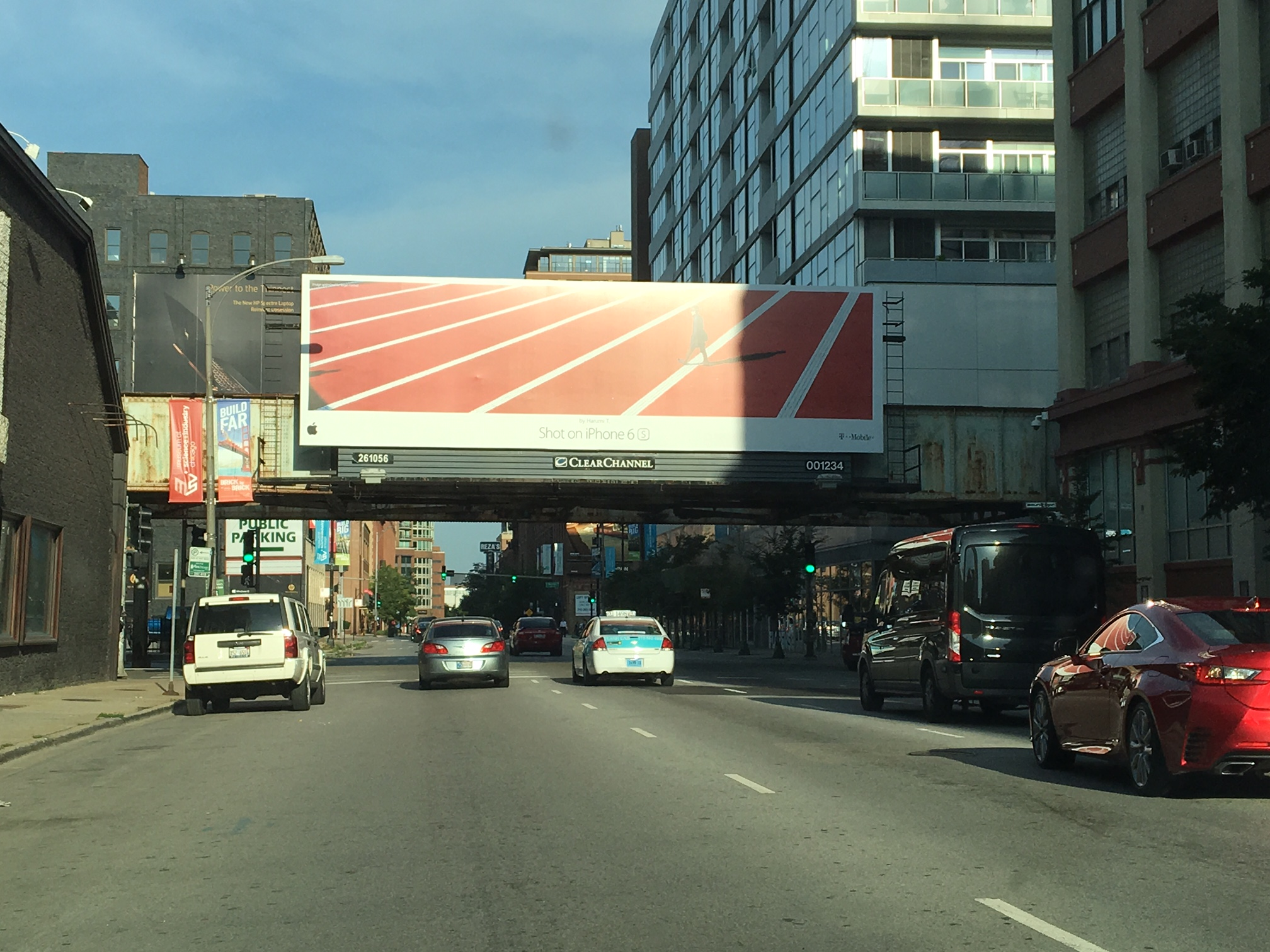 Billboard In Middle Of Road