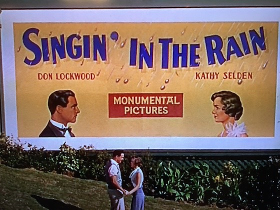 Singing in the rain billboard