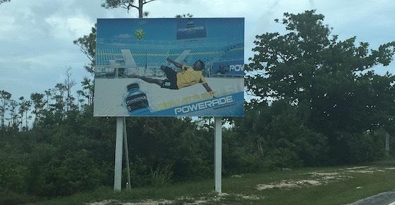 soccer billboard